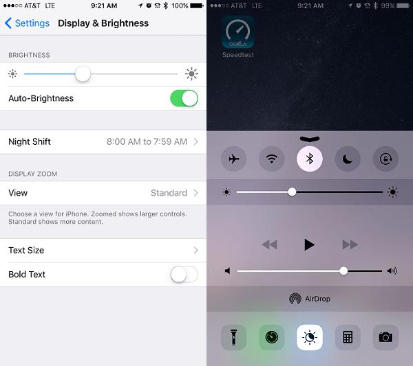 iphone ios 9.3 night mode blue light filter